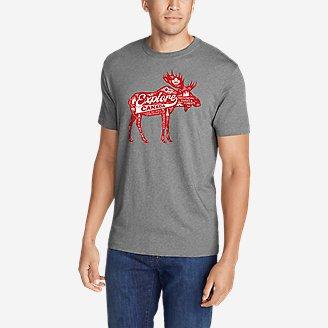 Men's Graphic T-Shirt - Moose Explorer in Gray