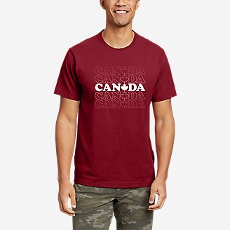 Men's Graphic T-Shirt - Canada Vibes in Red