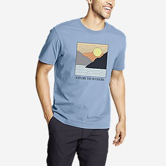 Men's Graphic T-Shirt - Cool Summer in Blue
