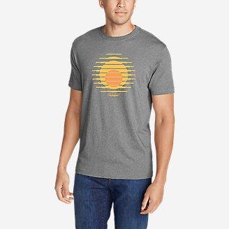 Men's Graphic T-Shirt - Setting Sun in Gray