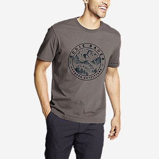 Men's Graphic T-Shirt - Circle Topo in Gray