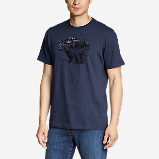 Men's Graphic T-Shirt - Outdoor Layers in Blue
