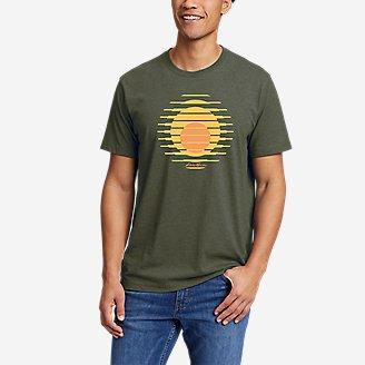 Men's Graphic T-Shirt - Setting Sun in Green