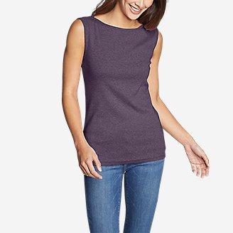 Women's Favorite Sleeveless Bateau Top in Purple