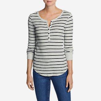 Women's Stine's Favorite Waffle Henley - Stripe in Gray