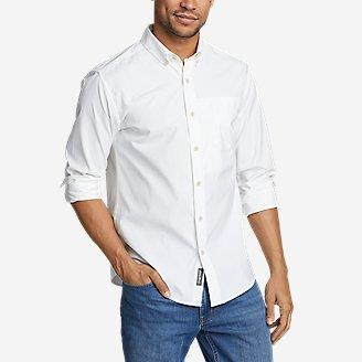 Men's On The Go Long-Sleeve Poplin Shirt in White
