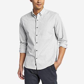 Men's On The Go Long-Sleeve Poplin Shirt in Gray