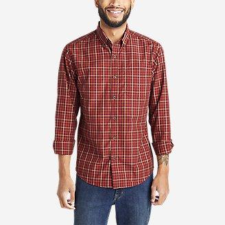Men's On The Go Long-Sleeve Poplin Shirt in Red