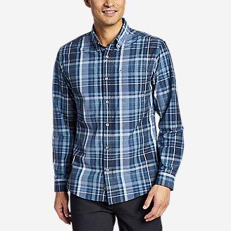 Men's On The Go Long-Sleeve Poplin Shirt in Blue