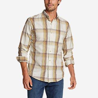 Men's On The Go Long-Sleeve Poplin Shirt in Yellow