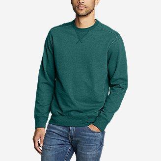 Men's Camp Fleece Crew Sweatshirt in Green