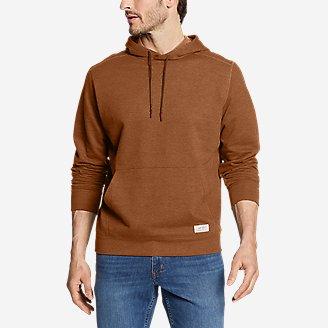 Men's Camp Fleece Pullover Hoodie in Brown