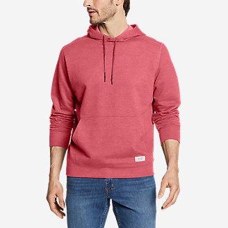 Men's Camp Fleece Pullover Hoodie in Red