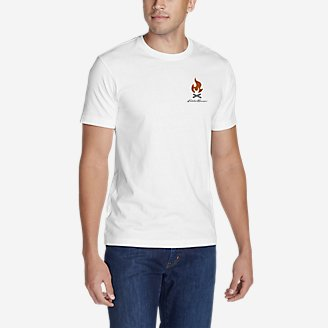 Men's Graphic T-Shirt - Camped in White