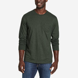 Men's Legend Wash Pro Long-Sleeve Pocket T-Shirt in Green