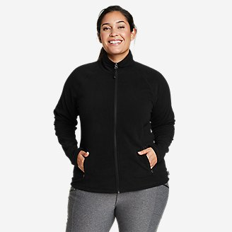Women's Quest Fleece Raglan-Sleeve Full-Zip Jacket - Solid in Black