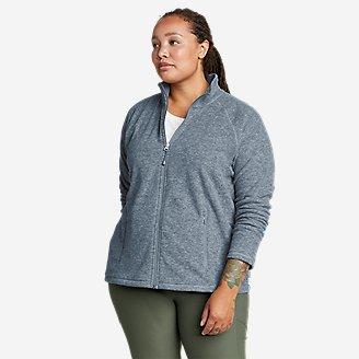 Women's Quest Fleece Raglan-Sleeve Full-Zip Jacket - Solid in Blue