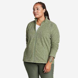 Women's Quest Fleece Raglan-Sleeve Full-Zip Jacket - Solid in Green