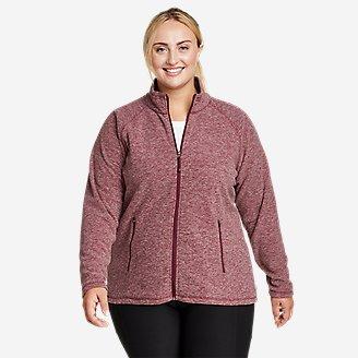 Women's Quest Fleece Raglan-Sleeve Full-Zip Jacket - Solid in Red