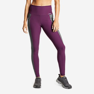 Women's Trail Tight High Rise Leggings - Colorblock in Purple