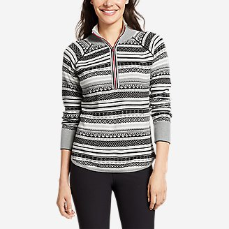 Women's Engage 1/4-Zip Fair Isle Sweater in Gray
