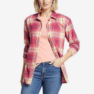 Women's Stine's Favorite Spring Flannel 2.0 Shirt - Boyfriend in Red