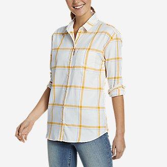 Women's Stine's Favorite Spring Flannel 2.0 Shirt - Boyfriend in White