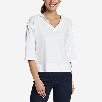 Women's Go-To 3/4-Sleeve Hoodie in White