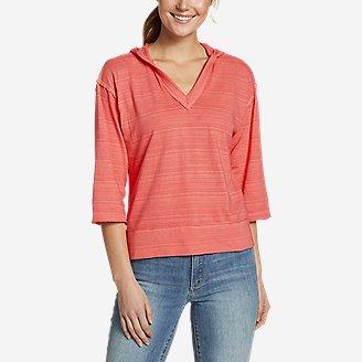 Women's Go-To 3/4-Sleeve Hoodie in Red