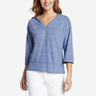 Women's Go-To 3/4-Sleeve Hoodie in Blue