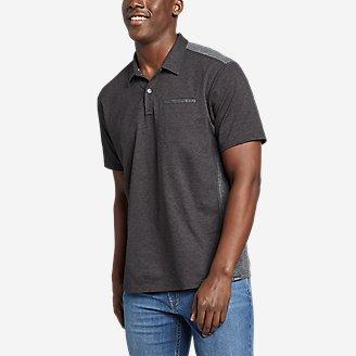 Men's Adventurer Short-Sleeve Polo Shirt in Black