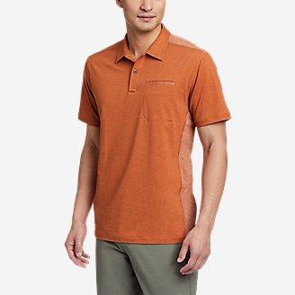Men's Adventurer Short-Sleeve Polo Shirt in Orange