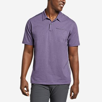 Men's Adventurer Short-Sleeve Polo Shirt in Purple