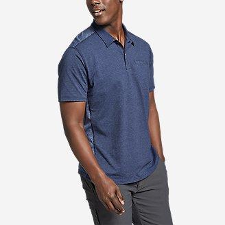 Men's Adventurer Short-Sleeve Polo Shirt in Blue
