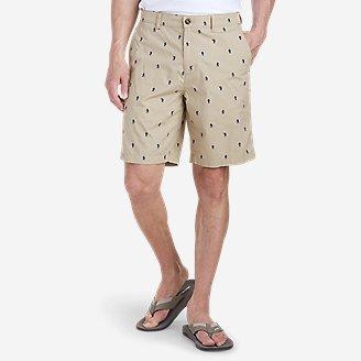 Men's Camano 9' Shorts - Print in Beige