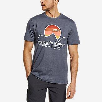 Men's Graphic T-Shirt - Cascade Range in Blue
