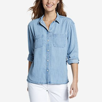 Women's Tranquil Two-Pocket Shirt in Blue