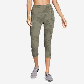 Women's Movement Lux High-Rise Capris - Print in Green