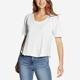 Women's Go-To U-Neck T-Shirt in White