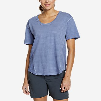 Women's Go-To U-Neck T-Shirt in Blue