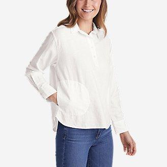Women's Beach Light Linen Shirt in White