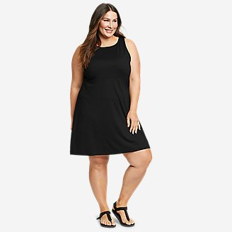 Women's Aster Sleeveless Empire-Waist Dress in Black