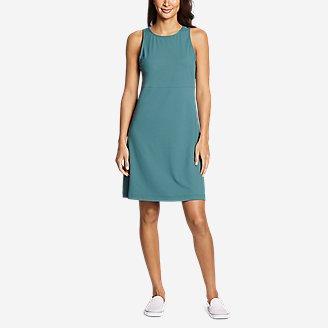 Women's Aster Sleeveless Empire-Waist Dress in Blue
