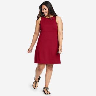 Women's Aster Sleeveless Empire-Waist Dress in Red