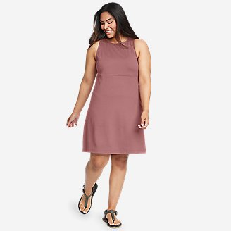 Women's Aster Sleeveless Empire-Waist Dress in Pink