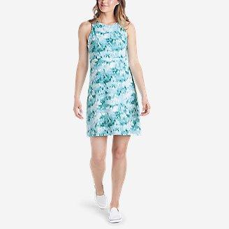 Women's Aster Sleeveless Empire-Waist Dress - Print in Green