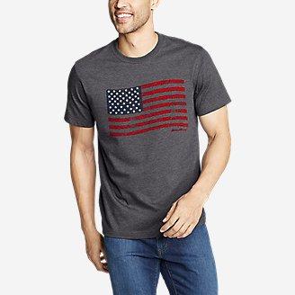 United States Black Flag Heather Gray Men/'s Graphic Tee