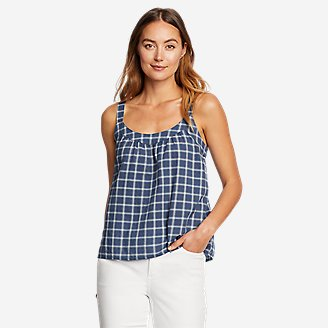 Women's Packable Novelty Tank Top in Blue