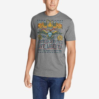 Men's Graphic T-Shirt - Liberty in Gray