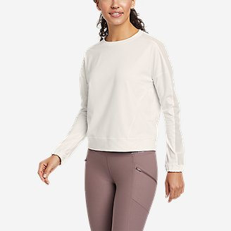 Women's Resolution 360 Mesh Mix Long-Sleeve Pullover in White